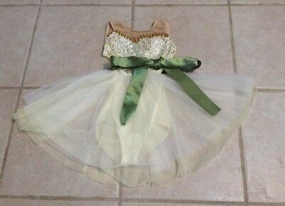 Adorable Toddler Girls Cream Sparkly Ballet/dance Dress Size 2T/3T? Vgc!