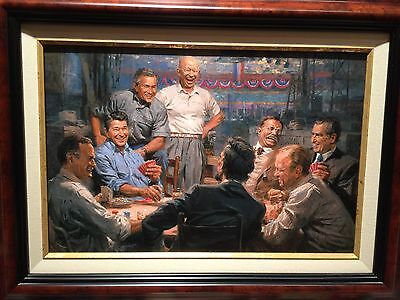 """Andy Thomas Grand Ol Gang Framed Size 18.5"""" x 24.5"""" Signed by Artist"""
