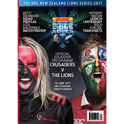 Crusaders v British & Irish Lions - 10 June 2017 - Official Programme