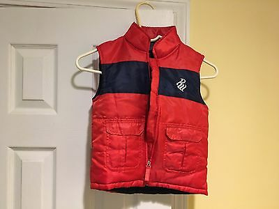 Toddler Boys Rocawear Classic Red Blue Bubble Jacket Vest 4T