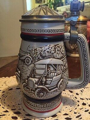 Vintage 1979 Avon Classic Cars Beer Stein-Ceramic-Ford Model T w/Trazara Cologne