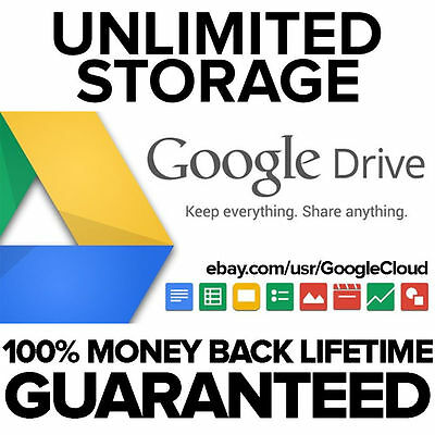 Lifetime Unlimited Google Drive Storage- Unlimited Upload/Download Movies/Songs