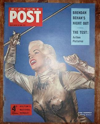 Picture Post Magazine 30Th June 1956 Jayne Mansfield Front Cover