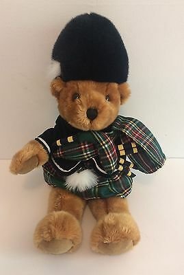 Harrods Teddy Bear Bagpipes Scottish Plaid Kilt Piper Plush London Knightsbridge