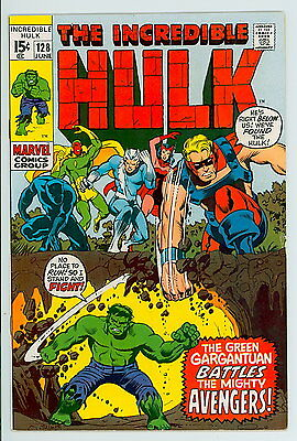 Incredible Hulk #128 Marvel 1970 VF – Hulk vs. The Avengers