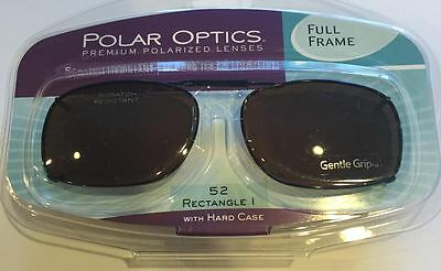 21a55773b0a Polar Optics Clip On Sunglasses 52 Rec 1 Copper Tint Lenses With Hard Case  New!