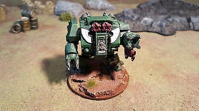 Warhammer 40k Space Marines Dark Angels Dreadnought, painted (DR3)