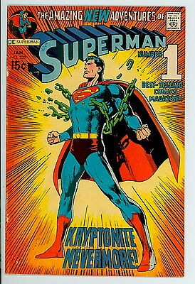 Superman #233 D.C. 1971 F/VF 1st Sand Superman – Classic Chain Breaking Cover