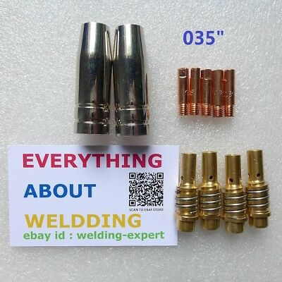 Nozzle Contact Tip 0.035 Gas Diffuser Chicago Electric Harbor Freight MIG Welder