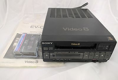 Sony EV-C3 Video-8 Video8 8mm Player Recorder VCR Deck w/ Manual