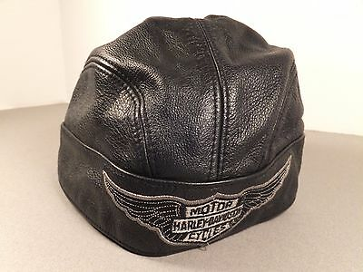 Harley Davidson Leather Doo Rag Size Small
