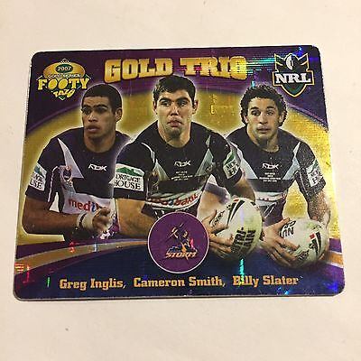 NRL Tazo Melbourne Storm Gold Trio Cam Smith Billy Slater Greg Inglis