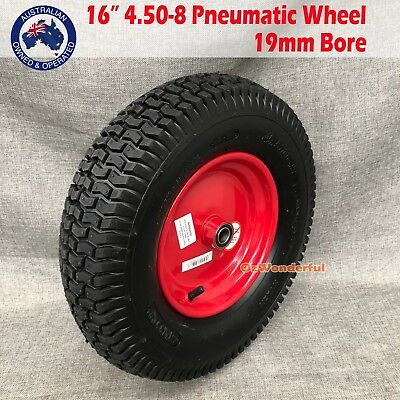 "16""x 4.50-8 19MM BORE Wheelbarrow Trolley Pneumatic Wheels Cart Tyres WHEEL Tyre"