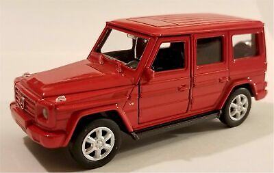 4 5 Welly Mercedes Benz G Class Wagon Diecast Toy Car 43689d Red