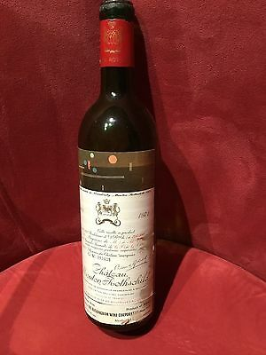 No 3 VINTAGE WINE BOTTLE1971 CHATEAU MOUTON ROTHSCHILD PAUILLAC NUMBERED EMPTY