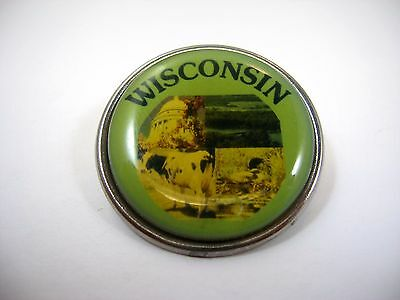 Vintage Collectible Pin Button: WISCONSIN