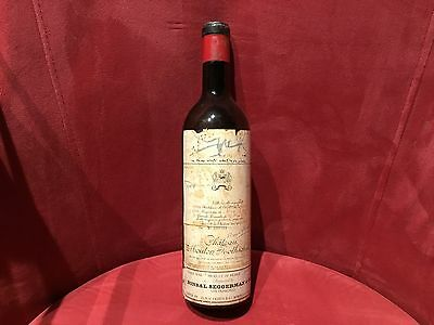 #4 Vintage Wine Bottle 1962 Chateau Mouton Rothschilds Pauillac Empty Numbered