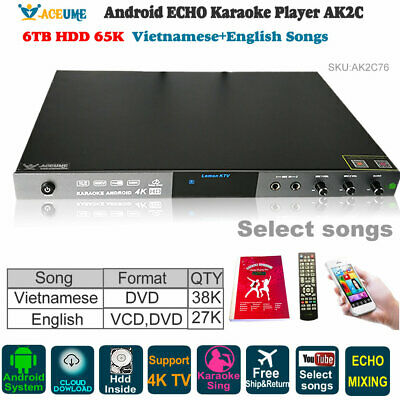 ADVANCE 4TB Android KTV-8868E karaoke player hdd load with 33000 Vietnamese song