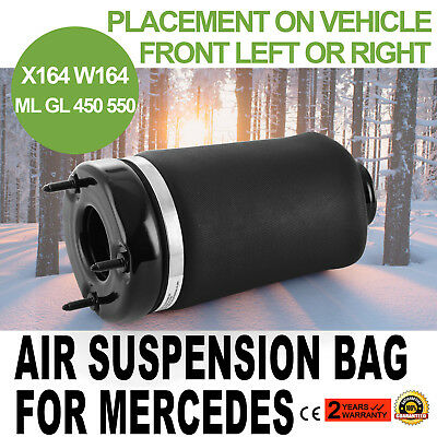 Front Air Suspension Spring Bag For Mercedes ML GL Class W164 X164 Perfect New