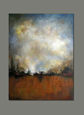 Original hand painted Abstract Landscape oil painting canvas Modern decor art 30
