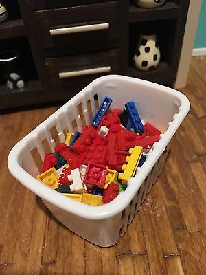 1:12 Scale Dollhouse Lego Toy Playroom Kids Miniatures Lot Micro Blocks 25pcs