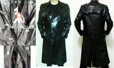 Trench Coat Creation Young Man Cuir De Luxe Veritable Cuir Souple Taille 54 L/m