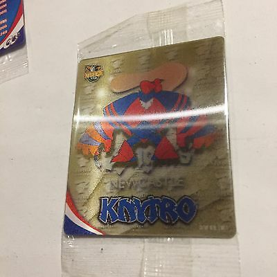 NRL Tazo Newcastle Knights Holographic Mascot Card