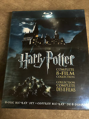 NEW HARRY POTTER COMPLETE 8 FILM COLLECTION BLU RAY + SLIPCOVER Sealed