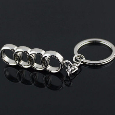 3D Metal Car Logo Keyring Keychain Key Chain Pendant Key Holder Ring For AUDI