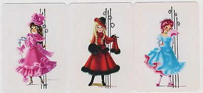 Swap/Playing Cards ~ GLAMOROUS YOUNG LADIES ~ Modern Wide Set of 3