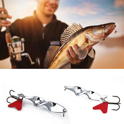 Fishing Spoon Lure Wobblers Metal Hard Twisty Artificial Fish Bait Tackle