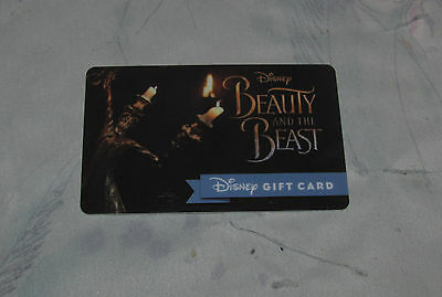 Disney Beauty & the Beast Gift Card - No Balance, $0, Empty Collectible Card