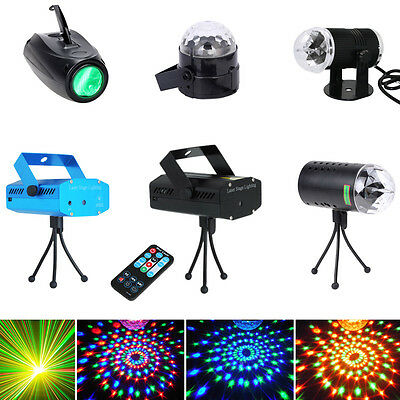RGB Super Mini Projector DJ Disco LED Light Stage Party Laser Lighting Show Plug