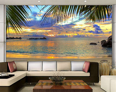 Colorful Sky Cloud Beach Full Wall Mural Photo Wallpaper Print Kid Home 3D Decal