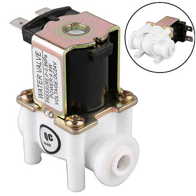 """1pc 1/2"""" PP NC Electric Solenoid Water Valve Magnetic Normal Closed DC 12V"""