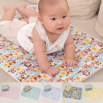 Baby Super Absorbent Cotton Urine Mat Waterproof Burp Changing Pad 50*70cm