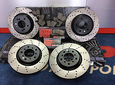 Bmw M3 E46 Coupe Cabrio Stoptech Front & Rear Brake Discs & Pads Full Kit