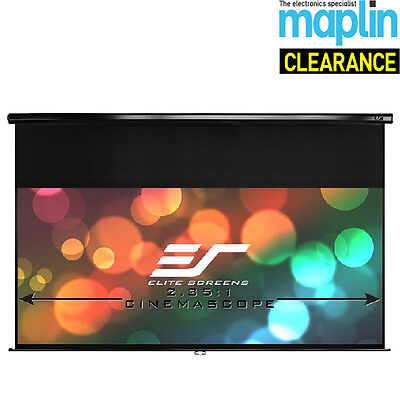 "Elite Screens 120"" Manual Pull Down Projector Screen Auto Locking System Maplin"
