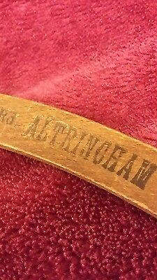 TAILORS Vintage Wooden Advertising Coat Hanger JB Robertson ALTRINCHAM, early20C