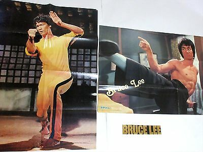"F/S Bruce Lee's Two movie posters ""Appendix of magazines posters"" From Japan."