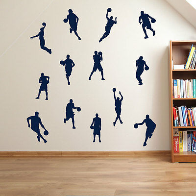 Basketball Player Hoop Sport Wall Stickers Sports Children Basketballers New A34