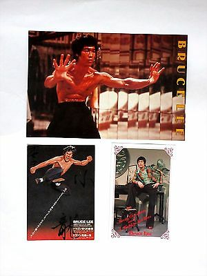 F/S Bruce Lee's post card etc three items. From Japan.