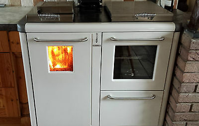 solid fuel kitchen range (Bosky Thermorossi F30) heating/hot water/cooking