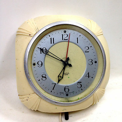 Vintage SMITH SECTRIC ELECTRIC WALL CLOCK Made in Gt Britain For Repair