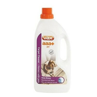 Vax aaa+ Pet Solution Carpet Cleaner Neutralises Pet Odours 1.5 L Safe to use