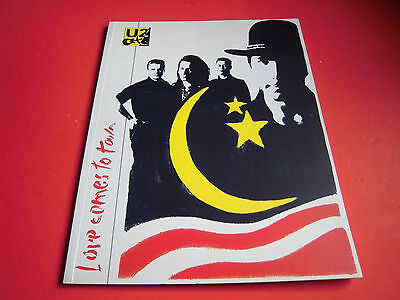 VERY RARE! U2 Love Comes To Town Japan Tour Program 1989 Japanese brochure