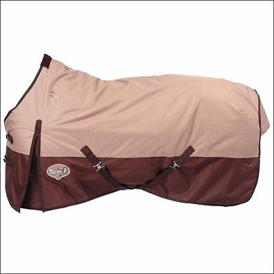 "78"" Tough-1 600D Waterproof Poly Horse Surcingles Turnout Blanket Tan"