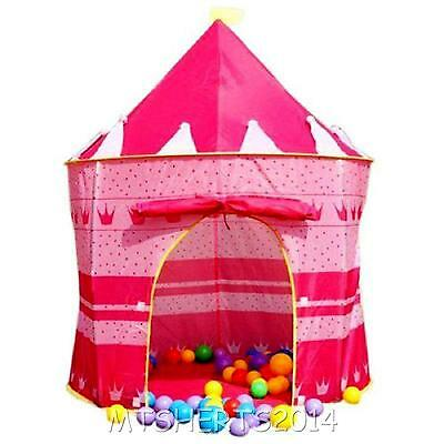 Large Childrens Pop Up Princess Castle Tent Pink Garden Playhouse I157