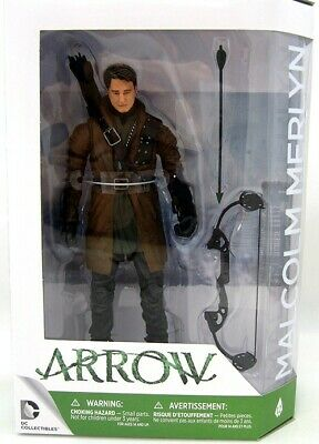 ARROW Figura Action MALCOLM MERLYN Dark Archer UNMASKED Figure DC COLLECTIBLES