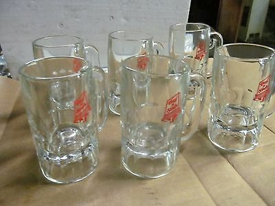 "(6) Dog 'N' Suds Sign Heavy Glass Crystal Root Beer Mugs, 5-1/2"" Tall, 9 OZ."